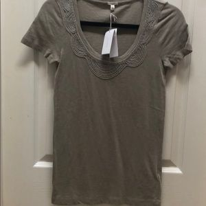 J.crew NWT small beaded tee